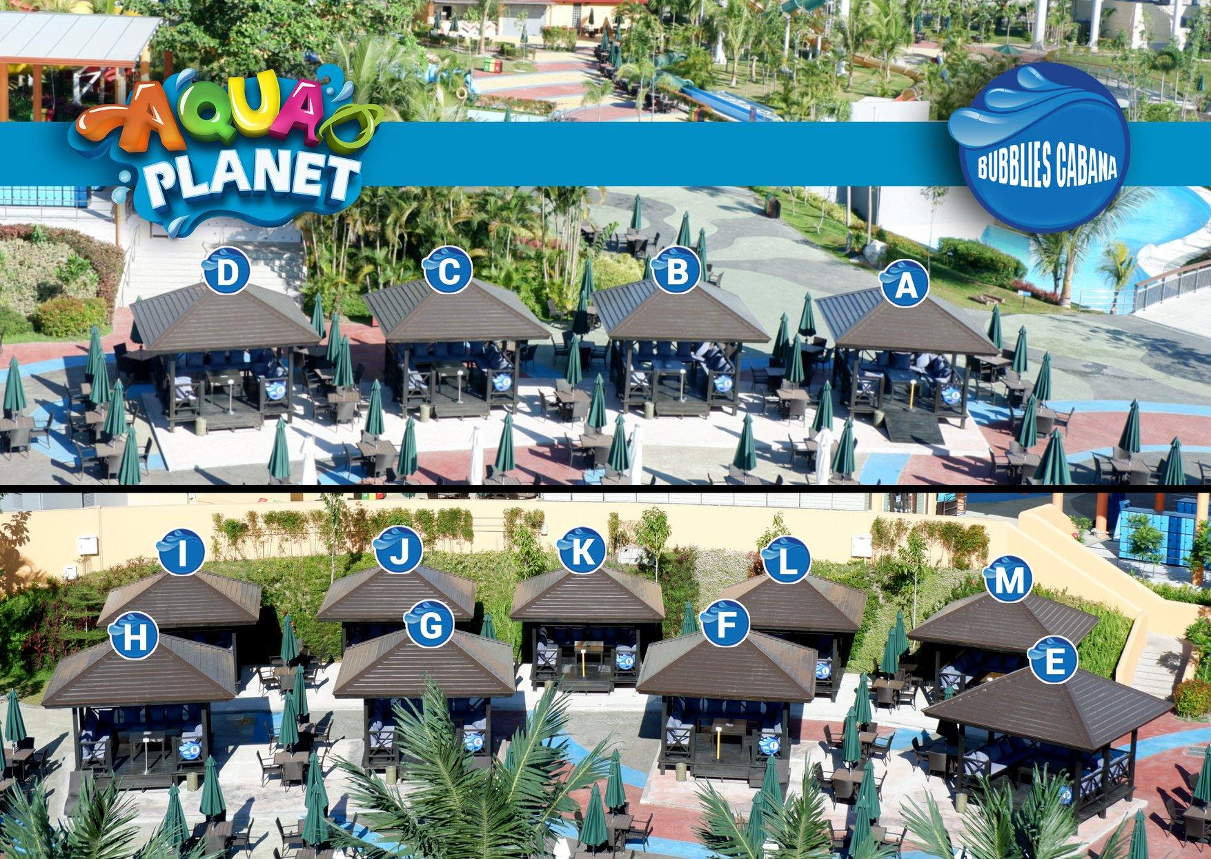 Bubblies Cabanas are located near the kiddie area. Relax while you look after your kids with the awesome array of day accommodation choices!